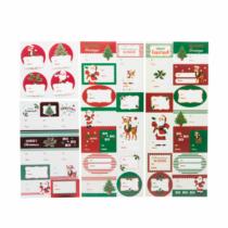 Family Christmas Ajándék cimke szett - mikulásos - 42 db
