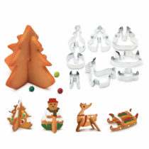 Family Christmas Sütikiszúró forma 3D - fenyőfa, hóember - 8 db / szett