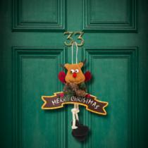 Family Christmas Karácsonyi ajtódísz - többféle - láblógatós - 16 x 20 cm