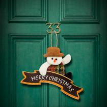 Family Christmas Karácsonyi ajtódísz - többféle - 16 x 20 cm