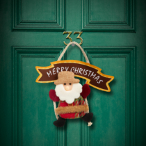 Family Christmas Karácsonyi ajtódísz - többféle - hinta - 16 x 20 cm