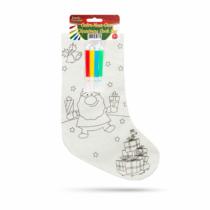 Family Christmas Színezhető mikulás zokni