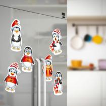 Family Christmas Karácsonyi hűtőmágnesek