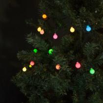 Family Christmas Fényfüzér - 50 db LED - színes, gömb - hálózati - 3 m
