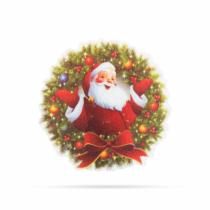 Family Christmas Karácsonyi RGB LED dekor - öntapadós - koszorú
