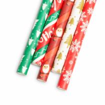 Family Christmas Papír szívószál - Karácsonyi - 197 x 6 mm - 25 db / csomag