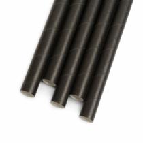 Family Pound Papír szívószál - fekete