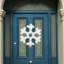Family Christmas Karácsonyi ajtódísz - hópehely