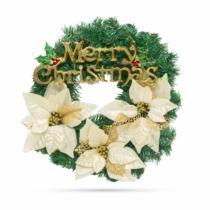 Family Christmas Karácsonyi koszorú - arany színű - 40 cm