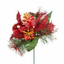 Family Christmas Karácsonyi dekor összeállítás - 21 cm - piros