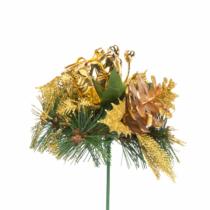 Family Christmas Karácsonyi dekor összeállítás - 21 cm - arany