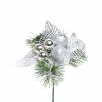 Family Christmas Karácsonyi dekor összeállítás - 21 cm - ezüst