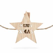 Family Christmas Csillag alakú karácsonyi fa csipesz melegfehér LED-del