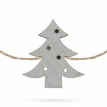 Family Christmas Fenyőfa alakú karácsonyi fa csipesz melegfehér LED-del