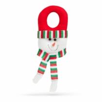 Family Christmas Karácsonyi kilincs dekor - hóember piros sapkában - 30 x 12 cm
