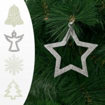 Family Christmas Karácsonyfadísz - többféle - 10 cm - 2 db / csomag