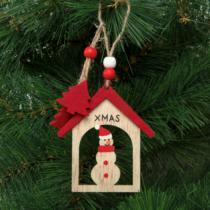 Family Christmas Karácsonyfadísz - hóember - akasztható - 17,5 x 7,5 cm