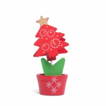 Family Christmas Karácsonyi fényképtartó csipesz dekor - asztali, rugós - 10 x 5 cm