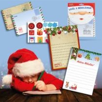 Family Christmas Levél a Mikulásnak csomag matricákkal + válaszlevéllel - 17 x 24 cm