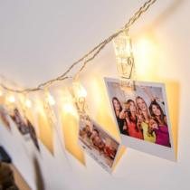 Family Christmas Karácsonyi LED dekor csipesz - 10 LED - melegfehér - 2 x AA