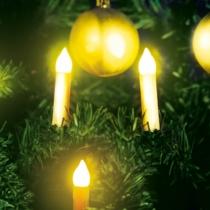 Family Christmas Karácsonyi LED gyertyafüzér - melegfehér - 10 LED - 2 x AA