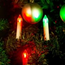 Family Christmas Karácsonyi LED gyertyafüzér - Multicolor - 10 LED - 2 x AA