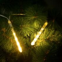 Family Christmas Meteor jégcsap - 60 LED - 11,5 cm - melegfehér - 3 x AA