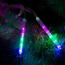 Family Christmas Meteor jégcsap - 60 LED - 11,5 cm - Multicolor - 3 x AA