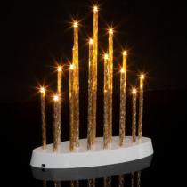 Family Christmas Karácsonyi LED gyertya dekoráció - 16 LED - melegfehér - 3 x AA