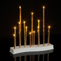 Family Christmas Karácsonyi LED gyertya dekoráció - 15 LED - melegfehér - 3 x AA