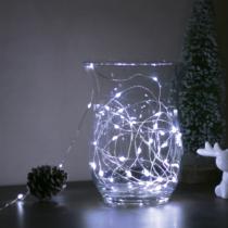 Family Decor LED fényfüzér - 5 m - 50 LED - hidegfehér - 3 x AA