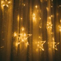 Family Christmas Karácsonyi LED fényfüzér - csillagok - melegfehér - 6 nagy, 6 kicsi - 3 x 1 m