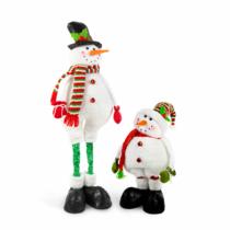 Family Christmas Textil hóember teleszkópos lábbal - 2 féle - 80 cm