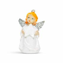 Karácsonyfadísz - angyalka - 6 cm - 24 db / display