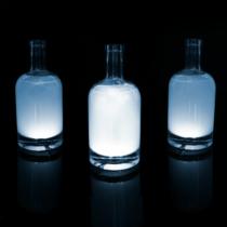 Family Christmas Üveg LED dekor - öntapadós - 4 db fehér LED - elemes működés