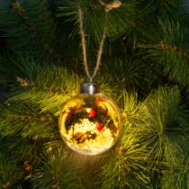 Family Christmas LED-es karácsonyfadísz - melegfehér - 8 cm