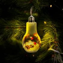 """Karácsonyfa dísz - """"izzókörte"""" - melegfehér"""