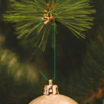 Family Christmas Szaloncukor akasztó - sötétzöld - 200 db / csomag