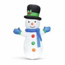 Family Christmas Felfújható hóember - 120 cm - IP44 - 1 LED - hálózati