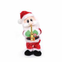 Family Christmas Szaxofonozó, táncoló mikulás - 35 cm - elemes
