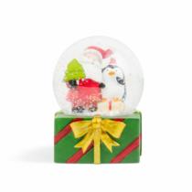 Family Christmas Karácsonyi LED-es hógömb - 4 féle - 8 db / display