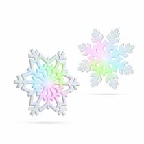 Family Christmas Világító hópehely - RGB LED-del - 10 cm