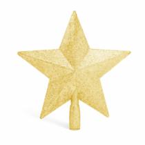 Family Christmas Karácsonyfa csúcsdísz - csillag alakú - 20 x 19 cm - arany