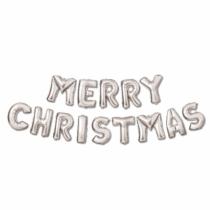 "Family Christmas 3D Karácsonyi ""Merry Christmas"" lufi - ezüst"