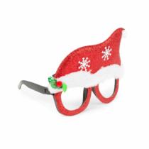Family Christmas Party szemüveg - Mikulás sapka mintával