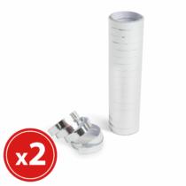 Parti szerpentin - ezüst - 18 x 2 m - 2 db / csomag