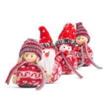Karácsonyfadísz - manó - 8 cm - 4 féle