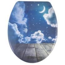 Bath Duck Wc-Ülőke - Duroplaszt - Rozsdamentes Acél Zsanérokkal - Moonlight