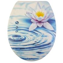 Bath Duck Wc-Ülőke - Duroplaszt - Rozsdamentes Acél Zsanérokkal - Tavirózsa