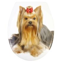 Bath Duck Wc-Ülőke - Easy Click - Soft Close - Lecsapódásmentes Zsanérokkal - Yorkshire Terrier (Yorki)